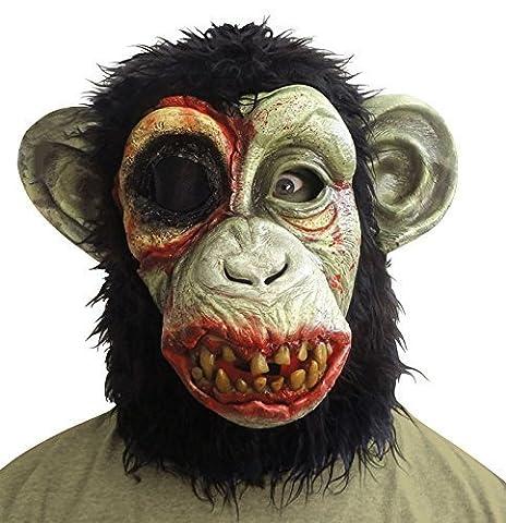 Dead Zombie pour Halloween chimpanzé SINGE singe Masque intégral Accessoire de déguisement