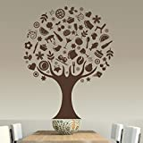 StickMe ' Elegant Food Tree -Concept Wall Sticker'- SM 058 ( PVC Vinyl - 130cm X 100 Cm )