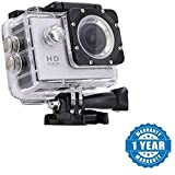 #5: Captcha 1080p Sports Camera With Multi Language, Micro SD Card Slot Outdoor Action Video Waterproof Camera 2inch LCD Super Wide Angle (Color May Vary)