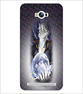 PrintDhaba Cute Girl D-4480 Back Case Cover for ASUS ZENFONE MAX ZC550KL (2016) (Multi-Coloured)