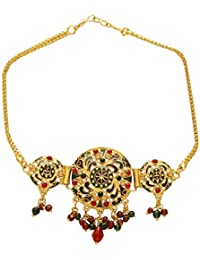 DzineTrendz Gold plated Stunnigly intricate handwork Rasrawa, Stylish Classic Ethnic Traditional Armlet Bajubadh Women