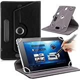 British neoCore N1 10 Inch Universal PU Leather 360° Degree Rotating Angle Stand Case Cover Folio With LCD Touch Screen Stylus Pen - Black