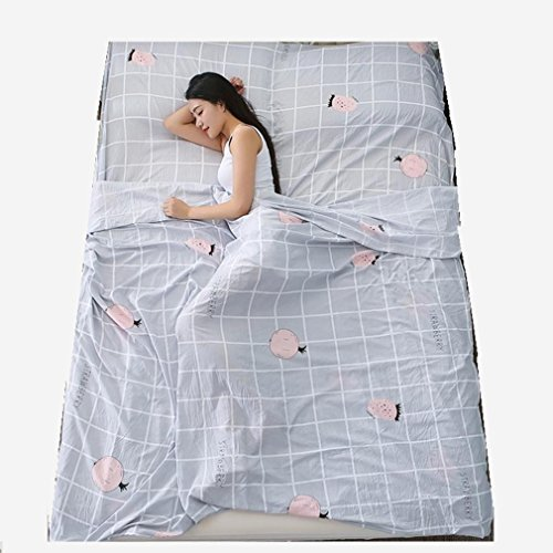 Nola Sang Cotton Travel Schlafsack Liner Wandern Camping Sheet Ultralight Portable Paar Sleep Sack Inside (Premium Travel Cotton Liner)