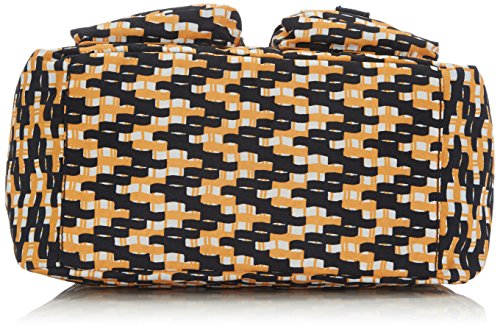 Kipling Damen Defea Schultertaschen, 33x25x19 cm Mehrfarbig (Basket W Print)