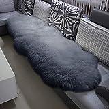 WOLTU Peau de Mouton Tapis de Laine Toison Moquette Tapis de canapé 180-210cm,Gris Clair TP3513hgr-L