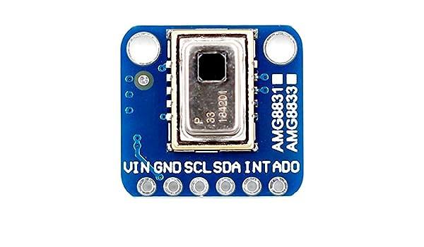 Telecamera Termica IR AMG8833 Accessori Strumento Modulo Breakout Array 8x8 Infrarossi Termografo Temperatura Sensore elettronico ad alte prestazioni per ARDuino