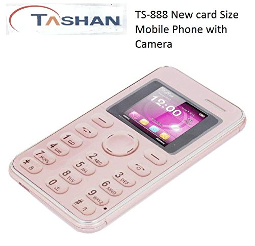 Tashan TS-888 Slim Card Size Light Weight and Stylish GSM Mobile Phone (Rosegold) offer