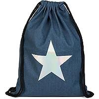 styleBREAKER Gym Bag with Metallic Star, Street Style, Rucksack, Sports Bag. Bag, Unisex 02012174, Color:Dark Blue