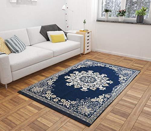 Harshika Home Furnishing Chenille Floral Design Heavy Carpet -  60