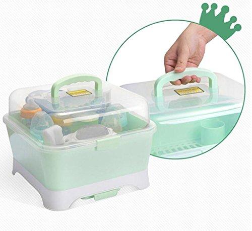 Baby Flasche Aufbewahrungsbox Portable Baby Supplies Geschirr Aufbewahrungsbox Trockene Rack Staubdicht Clamshell