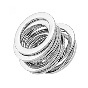 Pianegonda logiko anelli Argento rodiato
