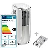TROTEC Lokales mobiles Klimagerät Klimaanlage PAC 2610 E mit 2.6 kW / 9.000 Btu (EEK: A) 3-in-1-Klimagerät: Kühlung, Ventilation, Entfeuchtung / Inkl. intelligentem Recyclingsystem - Kondenswasser muss nur sehr selten ausgeleert werden - Inkl. Fensterabdichtung AirLock 100