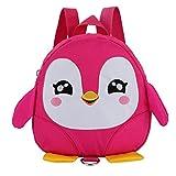 Notdark Kinderrucksack Kinder Cartoon Tier Rucksack Schultasche Mini Schule Tasche für Baby Jungen Mädchen Kleinkinder 1-3 Jahre (Pink)