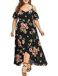 WWricotta abiti fiori di gala Donna Casual Boho maniche corti bretelle  irregolari cuchillada sexy meravigliose spiaggia db4f0a1ceb74