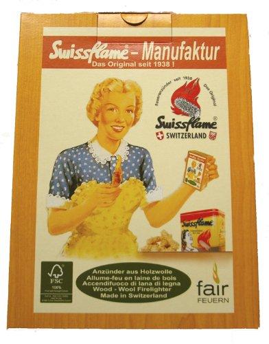 Preisvergleich Produktbild Swissflame Flammator Bioanzünder 3 Pack Holzwolle Wachs