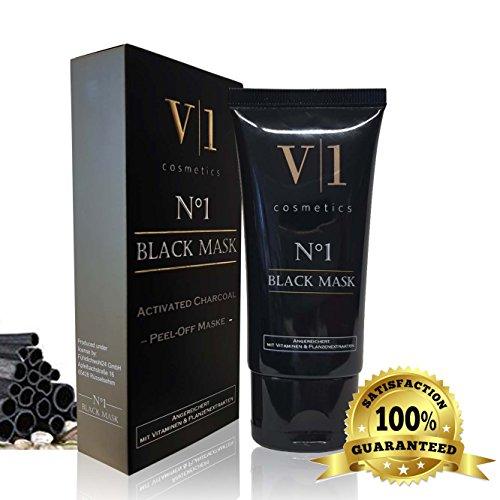 #Black Mask Mitesser Entferner 50 ml mit Aktivkohle, Aloe Vera & Algenextrakt • Schwarze Peel Off Maske gegen Mitesser, Akne und Pickel • Blackhead Maske für tiefenreine Haut#