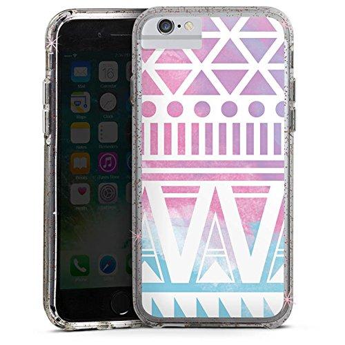 Apple iPhone 6 Bumper Hülle Bumper Case Glitzer Hülle Pastel Pastell Galaxie Bumper Case Glitzer rose gold