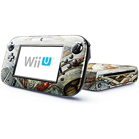 Michelangelo - David And Goliath, Skin Autoadesivo Sticker Adesivi Pelle Cover Decal Set con Disegno Strutturato con Nintendo Wii U
