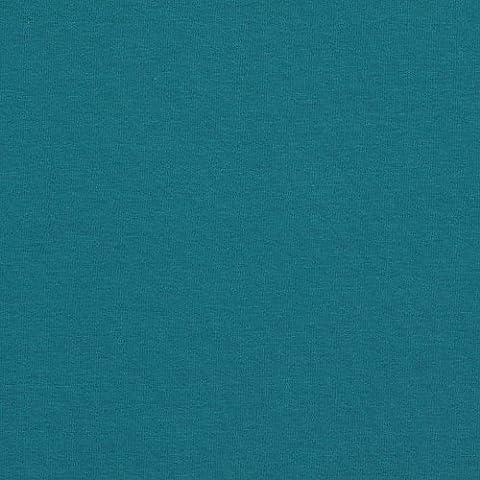 Tissu sweat molleton jersey coton uni - Bleu pétrole - Largeur 155cm - Longueur à la coupe par 50cm