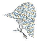 AUVSTAR Baby Schirmmütze Sonnenhut mit, Kinderhut UPF 50+ UV-Schutz, mit Nackenschutz, einstellbare Größe, für das Schwimmen im Freien, Reisen, Beach Play, Summer Must. (Delphin, 48-54cm)