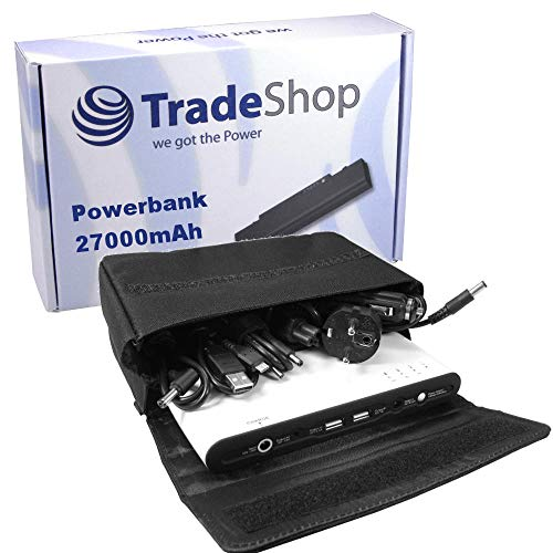 Universal Powerbank 27000mAh Externer Akku Batterie Zusatzakku für Acer Aspire Travelmate, Fujitsu-Siemens Lifebook Amilo, Panasonic Toughbook, IBM Lenovo Thinkpad Edge IdeaPad (Externes Thinkpad Akku)