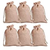 CCINEE Drawstring Jute Gift Bags For Wedding Favour Jute Burlap Hessian Bags Pack of 20