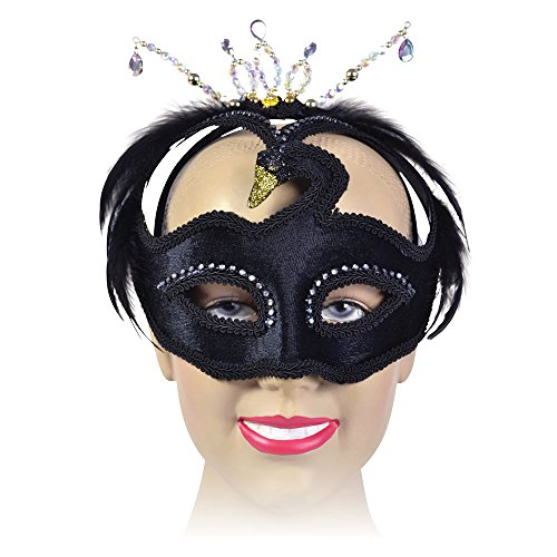 Bristol Novelty em318Swan Eye Maske auf, Kopfband, Schwarz, One size