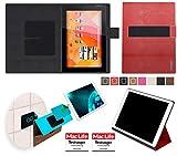 Hülle für Medion Lifetab S10346 (MD 98992) Tasche Cover Case Bumper | in Rot Leder | Testsieger