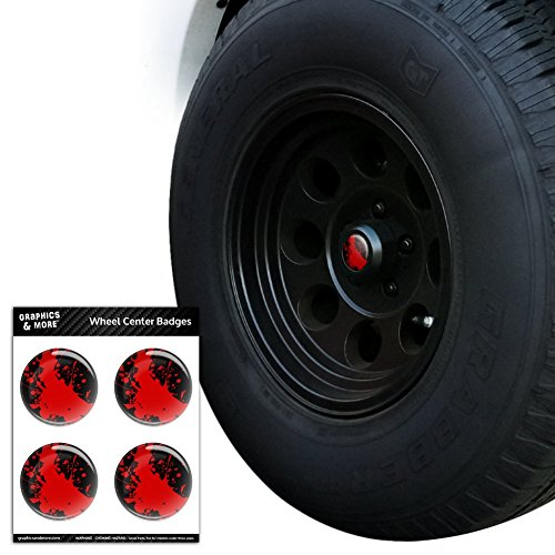 Blood Splatter Classic Horror Film Halloween Tire Rad Center Gap resin-topped Abzeichen Aufkleber – 7,1 cm (7,1) Durchmesser Das Auto Horror Film