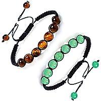 OBSEDE 7 Chakra Healing Balance Energy Beads Armbänder Ajustable Armband Set 6 MM Beads preisvergleich bei billige-tabletten.eu