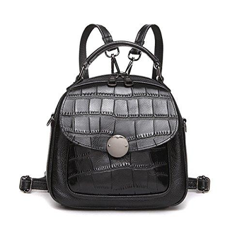 4ed05841446c1 Frauen Leder Rucksack Handtasche Trend Pack