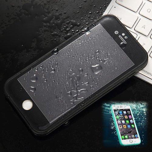 Donkeyphone S11X6GG1200 - Carcasa acuática Ultra Fina para iPhone 6/6s (4,7') y Funda Sumergible Waterproof, Color Negro