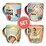 Nostalgic-Art Becher-Set 4-fach sortiert - Say it 50's