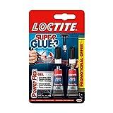 Loctite Super Glue-3 Power Flex Gel, colle forte enrichie en caoutchouc, colle gel ultra-résistante, à séchage immédiat, colle transparente, lot de 2 tubes 3 g