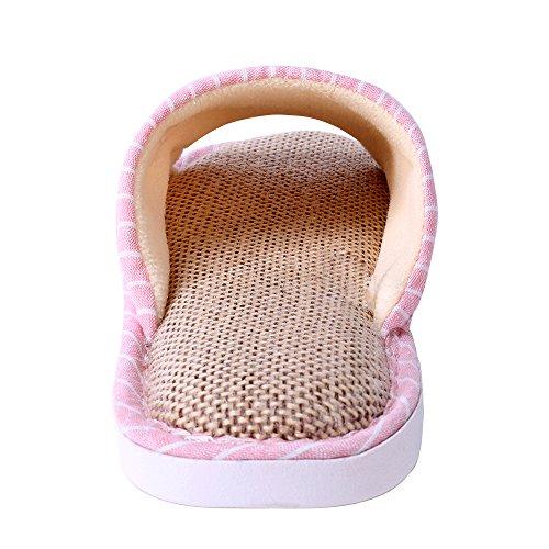 WILLIAM&KATE Unisex Pistoni Casuali Pantofole Anti-Slip Indoor & Outdoor Slipper Piano Slipper Rosa Lattice