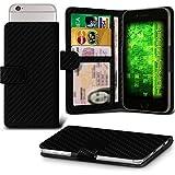 Fone-Case (Carbon Fibre)Huawei P10 Hülle Clamp-Art-Mappen Schutz-PU-Leder-Abdeckung
