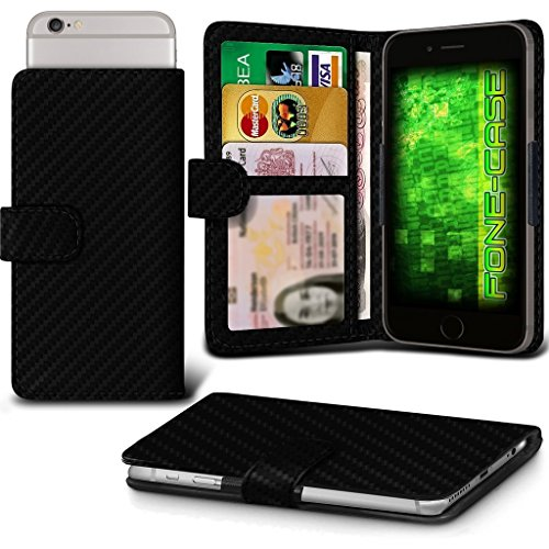 Fone-Case (Carbon Fibre) Google Pixel XL Hülle Clamp-Art-Mappen Schutz-PU-Leder-Abdeckung