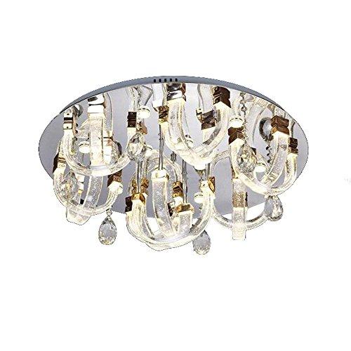 Bubble pipe circolare LED Crystal lampada moderna Crystal soffitto lampada da soffitto