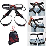 AYAMAYA Climbing Harness AYAMAYA Safety Half Body Harness Seat Belts Guide Protector Momentum Harness For Mountaineering Outward B& Fire Rescue Caving Rock Climbing Rappelling Equip For Women Men Child Kid