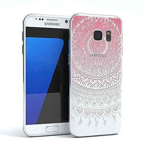EAZY CASE Handy-Hülle für Samsung Galaxy S7 Pink / Weiß