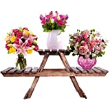 Willart Handicraft Wooden Living Room Side Stand/Wooden Stool/Flower Pot Stand Flower Vase Stand Home Décor Home Furnishing (Dimension : 24 Inch X 9 Inch X 11.5 Inch)