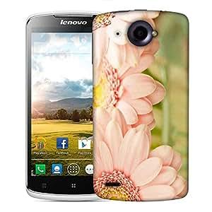 Snoogg Blue Flower Designer Protective Phone Back Case Cover For Lenovo S920