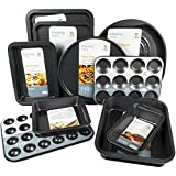 Set of 10 - Get Goods Easy Baking Non Stick Oven Tray Sets - Carbon Steel