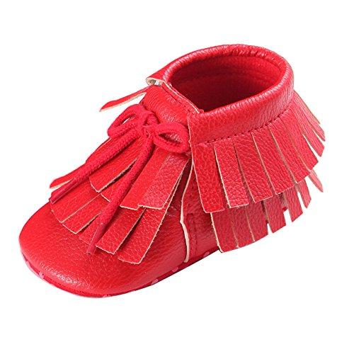 Fire frog  Moccasins Boots,  Baby Mädchen Mokassins Rot