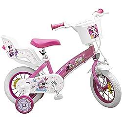 "Toimsa 611, Bicicleta para niñas Minnie, 12"" ( 300 mm)"