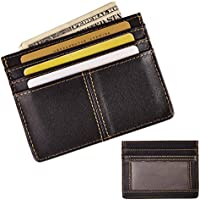 Le 'aokuu da uomo in vera pelle bovina denaro Mini Custodia per carte di credito (Grain Leather Mini)