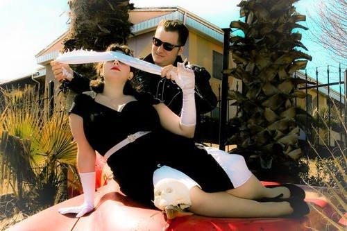 Une Super Sexy Robe Fourreau de Style Retro Burlesque ou Pin Up. De Coton. Pour le Bureau ou le Soireé. Tailles 36-58 Noir
