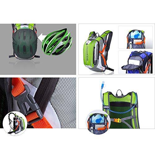 Freedom-vp Herren Damen Fahrradrucksack Trekking Wandernrucksack Wasserdicht sehr licht für Freizeit Uni Schule Radsport Radfahren Running Laufen JoggingRucksäcke Tasche Grün