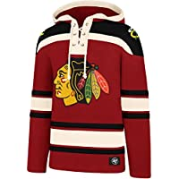 47 Brand NHL Chicago Blackhawks Lacer Hoody Jersey Trickot Kapuzenpullover Forty Seven
