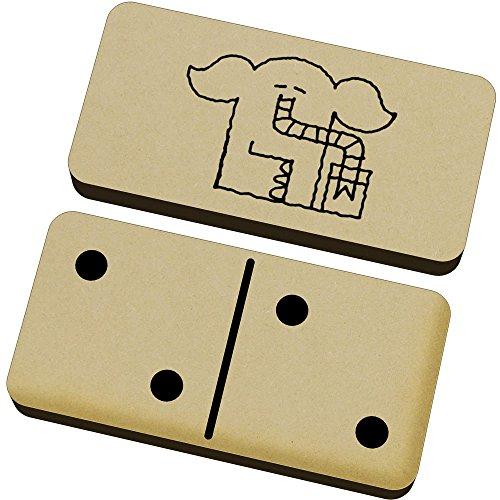Azeeda 'Bebiendo Elefante' Domino Juego y Caja (DM00004044)